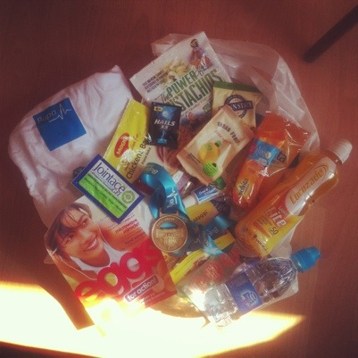 Bupa London 10000 goody bag