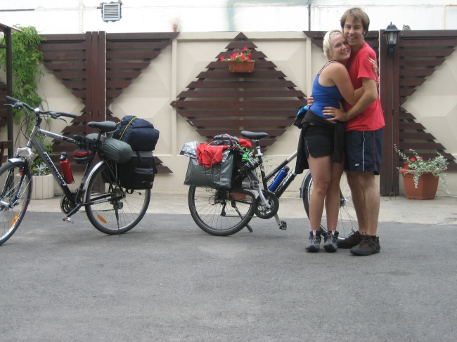 My partner and I all set for our trip around Lithuania and Latvia in 2008