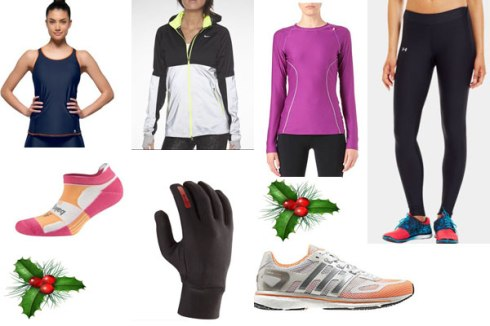 Clockwise from left, Freya, Nike, Sweaty Betty, Under Armour, Balega, Ashmei, adidas
