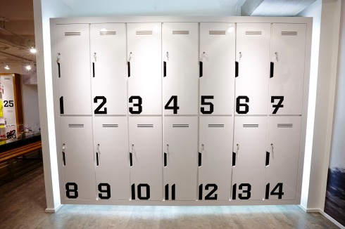 Lockers that can cater for my usual house-on-my-back rucksack Copyright onEdition 2014©