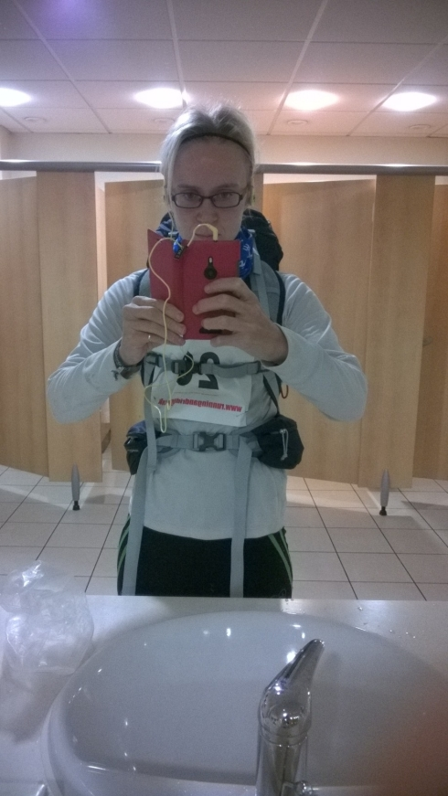 In all my gear again - sorry this will be a familiar site over the next few months