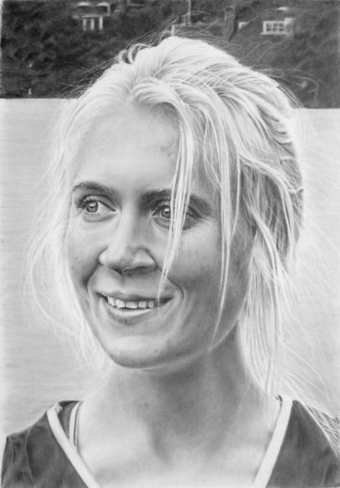 Rebecca pencil drawing