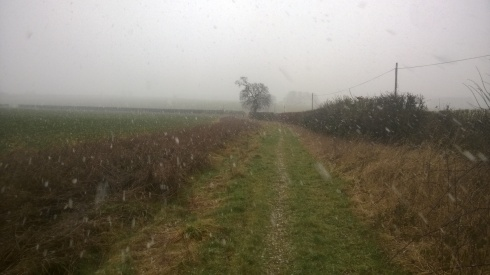It started to snow - hard...