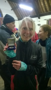 Freezing my bottom off but came in 2nd lady.