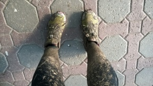 All that mud works your lower limbs